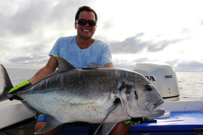 Monster GT caught while fishing with Deco Stop Lodge Espiritu Santo Vanuatu
