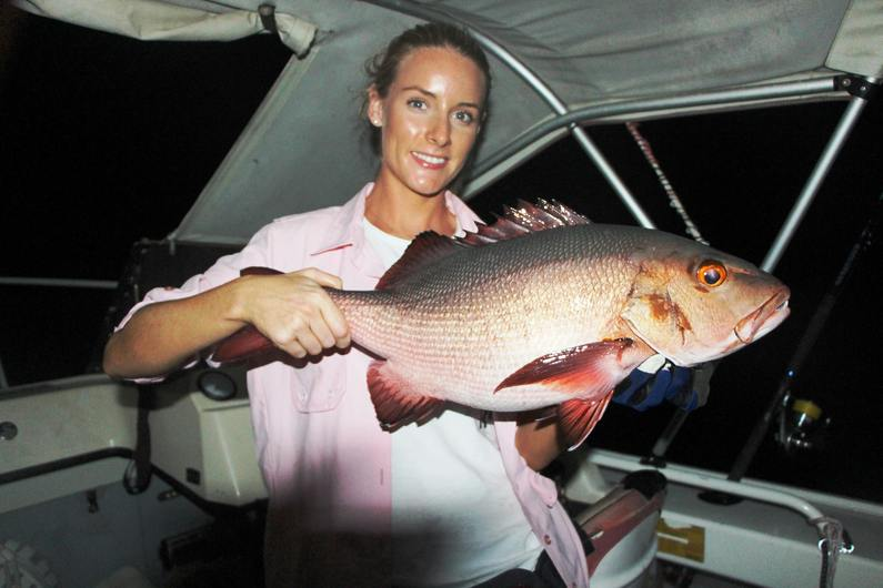 Nice Red Bass Fishing Deco Stop Lodge Espiritu Santo Vanuatu