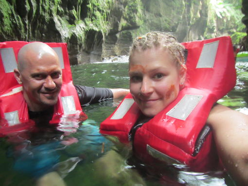 Millennium Cave adventure, Espiritu Santo, Vanuatu
