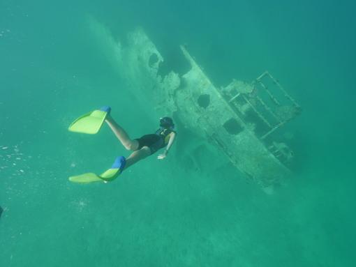 Snorkelling at Million Dollar Point, Espiritu Santo Vanuatu