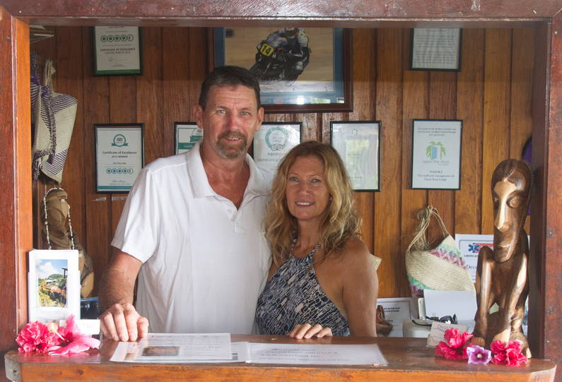 Ben Healy and Kim Duncan, owners of Deco Stop Lodge