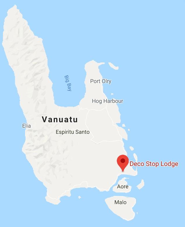 Deco Stop Lodge Location - Espiritu Santo, Vanuatu