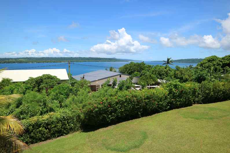 Stunning views of the Segond Channel from the Deluxe Rooms at Deco Stop Lodge