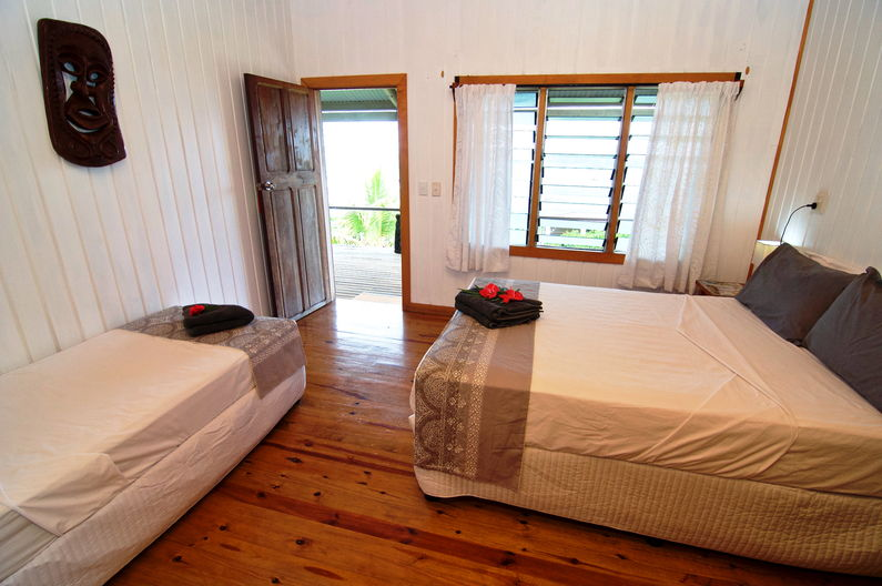 Deluxe Double Room at Deco Stop Lodge - looking out door