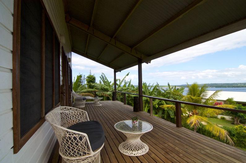 Deluxe Double Room at Deco Stop Lodge - verandah view
