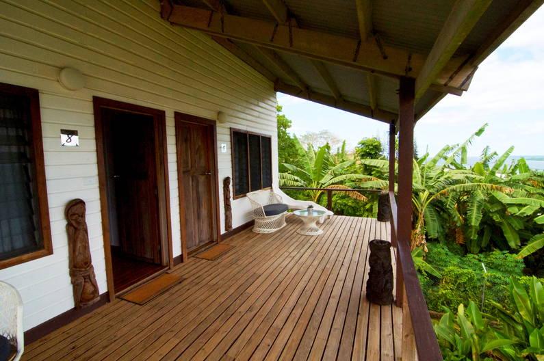 Deluxe Double Room at Deco Stop Lodge - verandah