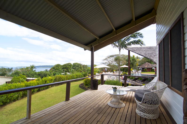 Deluxe Double Room at Deco Stop Lodge - view from verandah