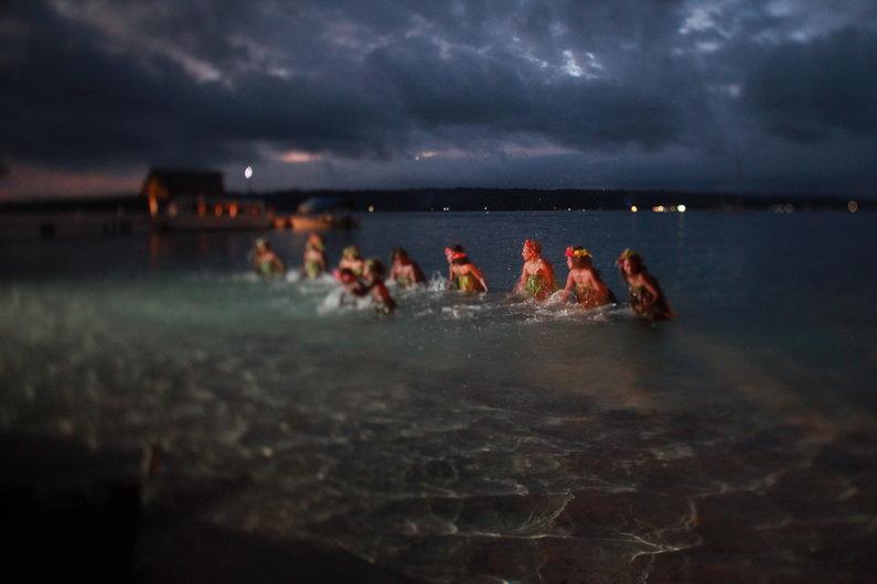 Traditional water dancing, Espiritu Santo, Vanuatu