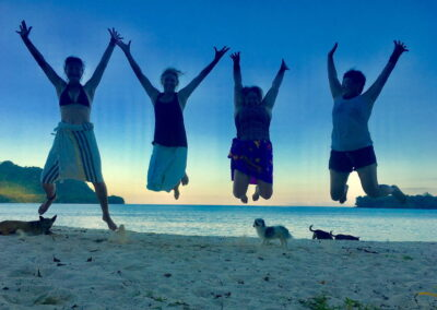 Jumping for joy in Vanuatu